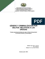 Genero y Criminilaizacion Drogas