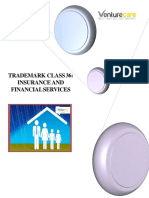 16.Trademark Class 36 Insurance and Financial Services
