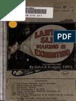 Lantern Slide Making and Exhibiting