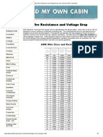 Copper Wire Resistance and Voltage Drop and Conductor Size Calculators