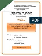 Etude de Stabilité Et Confortemant Du Glissement de Terrain de Louvar Imaaliouen Chemini