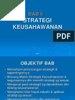 Bab 6 Strategi Keusahawanan