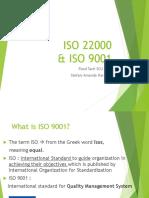 X ISO 22000 dan 9001