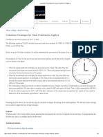 Calculator Technique for Clock Problems in Algebra
