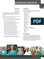 Army Graduate Medical Education Fact Sheet