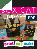 Free Box Cat Art Craft Activity