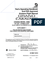 Pilot's Operating Handbook & FAA Approved Airplane Flight Manual for Cessna Grand Caravan EX