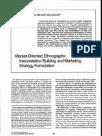Market Oriented Ethnography