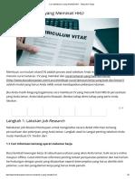 Cara Membuat CV Yang Memikat HRD - Tahap Demi Tahap