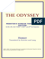 Homer-The Odyssey (Webster's Korean Thesaurus Edition) (2006)