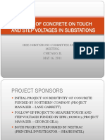 Effects of Concrete on Touch and Step Voltages