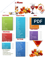 Drinks Bar Menu Template