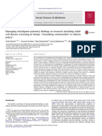 Managing Misaligned Paternity Findings in Research Including Sickle