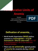 Perioperative Limits of Anemia