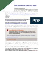 Cara Mudah Memblokir Situs Dewasa Dengan DNS Di MikroTik