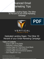 Dedicated Landing Pages - The Other 50 Percent of Your Email Marketing Campaign - Rob Van Slyke 1-2010