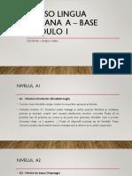 Corso Lingua Italiana a - Base