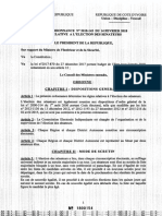 ORDONNANCE N°2018-143 DU 14-02-2018 RELATIVE A L'ELECTION DES SENATEURS(1)