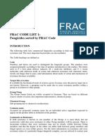 FRAC CODE LIST 1