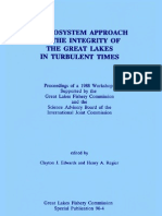 An Ecosystem a Approach Integrity Great Lakes in Turbulent Times 1990