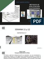 Métodos Subterráneos en mineria
