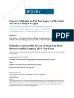 Diabetes Head and Neck Surgery