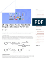 30 Important Name Reactions Organic Chemistry for IIT JEE – Engineering