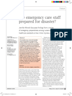 Are Emergency Care Staff Prepared for Disaster