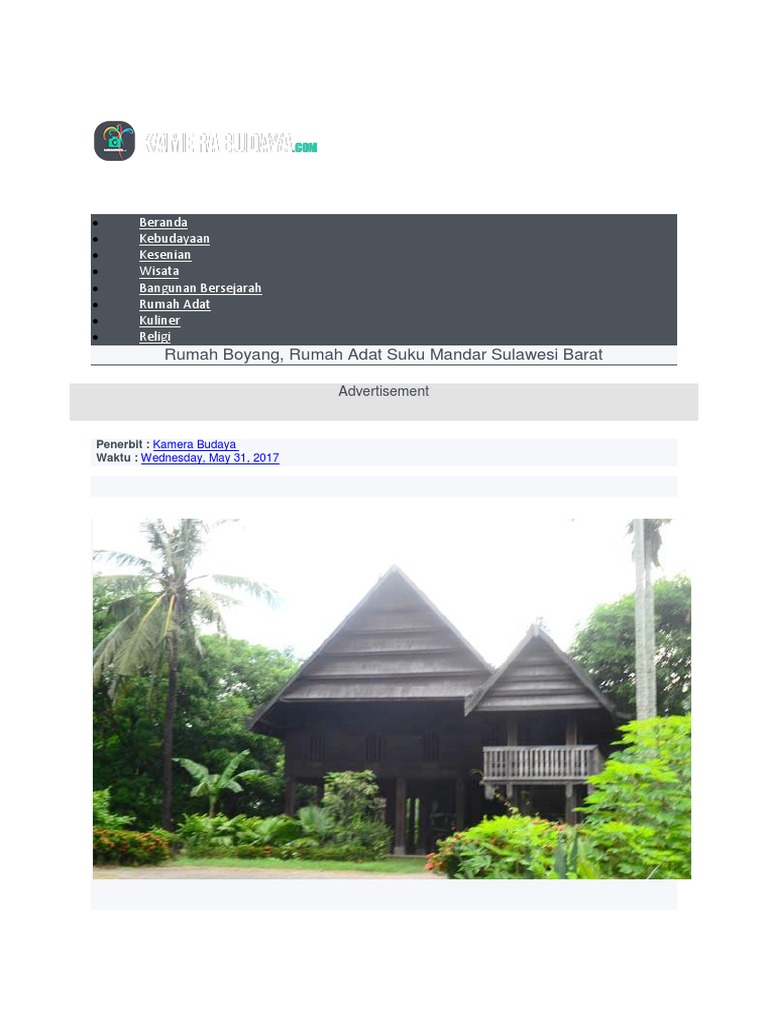 740+ Gambar Rumah Adat Mandar Terbaru