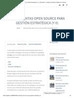 Herramientas Open Source Para Gestión Estratégica (y II) - CMI Gestión, Consultoría de Business Intelligence en Alicante