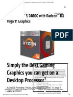 AMD Ryzen™ 5 2400G with Radeon™ RX Vega 11 Graphics _ AMD