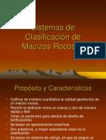 Clasificacion de Macizos RMR