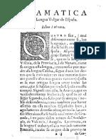 Gramatica Dela Lengua Vulgar de España 1559