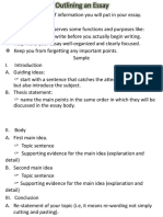 3. Outlining an Essay