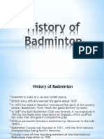 Brief History of Badminton
