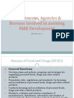 Chap 6 - Departments, Agencies & Bureaus Involved in SME Development