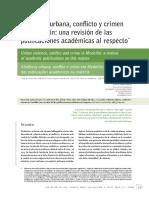 Davila, Violencia Urbana, Confl Icto y Crimen