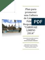 Plan Carhuaz Limpio-2014 Final