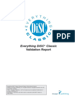 Everything DiSC Classic Validation Report 2008 International Version