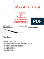 Mech Control of Corrosion on Underwater Piles Ppt