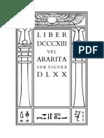 Liber DCCCXIII vel Ararita sub figurâ DLXX by Aleister Crowley.