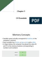 Chapter 3 C# Essentials