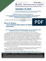 ValuEngine Weekly Newsletter September 10, 2010