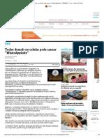 Teclar Demais No Celular Pode Causar _WhatsAppinite_ - 07-04-2014 - Tec - Folha de S