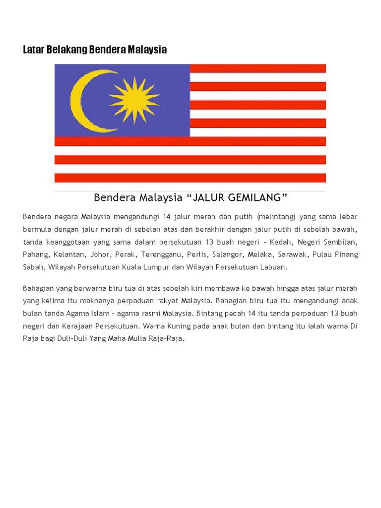 Latar Belakang Bendera Malaysia