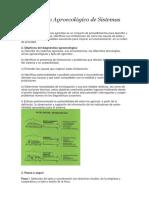 Diagnóstico Agroecológico de Sistemas Agrícolas