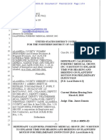 California Forensic Medical Group Motion  - Mohrbacher et al v. Alameda County Sheriffs Office et al
