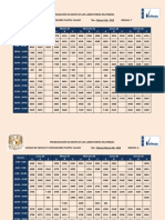 Calendarización 2018-2 Actualizado