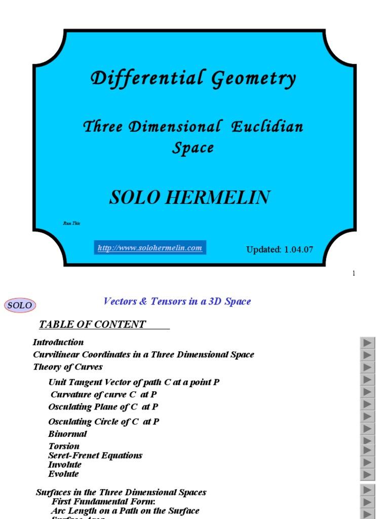 Differentialgeometry Threedimensionalspace 140924225031