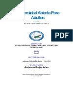 Tarea 7 de Estructura Del Curriculo Dominicano